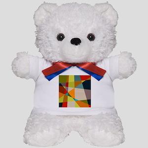 Mid Century Modern Geometric Teddy Bear