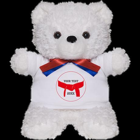 Custom Martial Arts Red Belt Teddy Bear