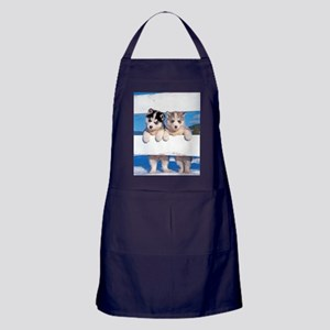 Two Husky puppies Light Apron