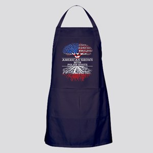 American Grown With Polish Roots Apron (dark)