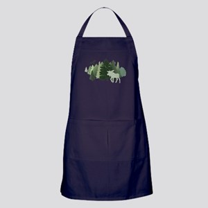 Moose in the Forest Apron (dark)