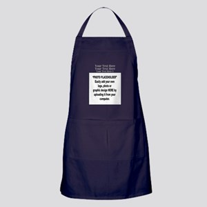 Your Photo Here with Text Apron (dark)