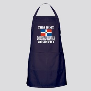 This Is My Dominican Republic Country Apron (dark)