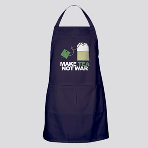 Make Tea Not War Apron (dark)