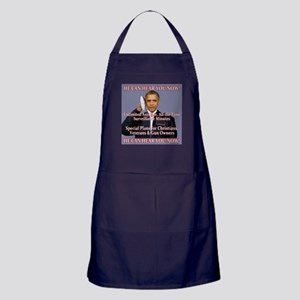 He Can Hear You Now Apron (dark)