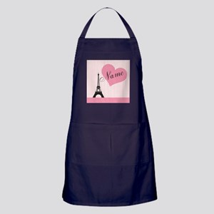 custom add text paris Apron (dark)