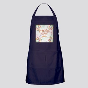 With God Apron (dark)