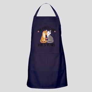 3rd Anniversary Gift Cat Couple Light Apron