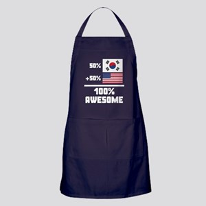 Awesome South Korean American Apron (dark)
