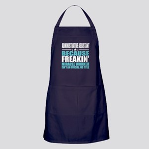 Adminitrative Assistant Funny Job Tit Apron (dark)
