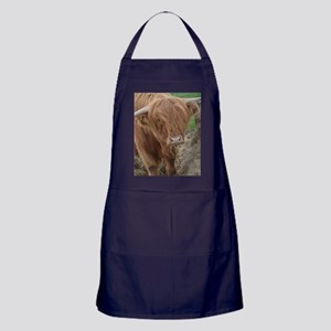 Young Highland Cow Apron (dark)