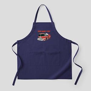 Custom Red Fire Truck Apron (dark)