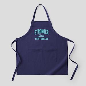 Stronger Than Yesterday Apron (dark)