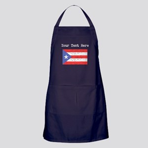 Puerto Rico Flag (Distressed) Apron (dark)
