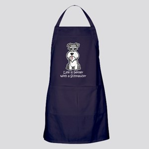 Life-is-better-with-a-Schnauzer-dark Apron (dark)