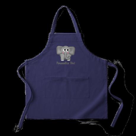 Cute Elephant Personalized Apron (dark)