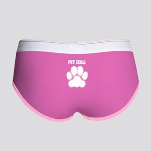Pit Bull Distressed Paw Print Women's Boy Brief