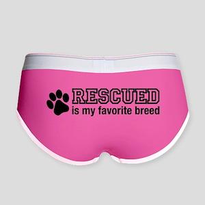 Rescued is My Favorite Breed Women's Boy Brief
