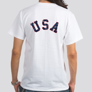 Vintage Team USA [back] White T-Shirt