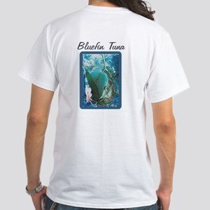 Bluefin Tuna White White T-Shirt