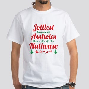 NLCV: Jolliest Assholes White T-Shirt