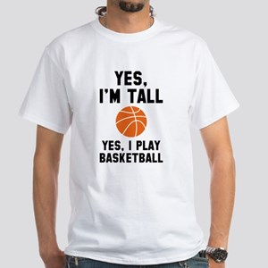 Yes, I'm Tall White T-Shirt