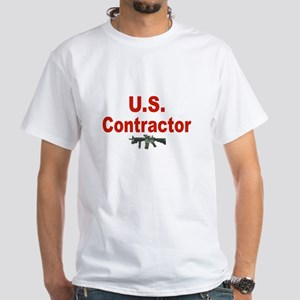 U.S.Contractor/ White T-Shirt