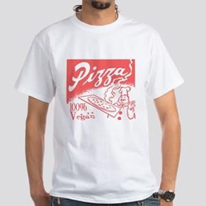 Vegan Pizza White T-Shirt