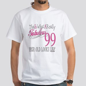 99th Birthday Gift White T-Shirt