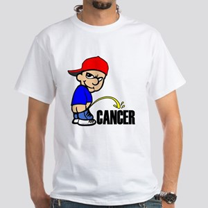 Piss On Cancer White T-Shirt