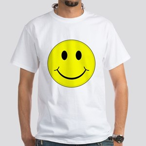 Classic Smiley Face White T-Shirt