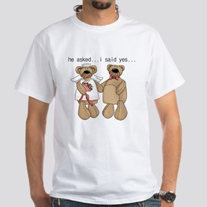 Bride and Groom Bear White T-Shirt