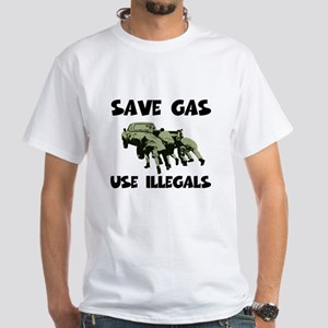 Right Wing funny gas prices White T-Shirt