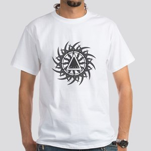 Tribal Sober 2 White T-Shirt