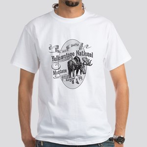 Yellowstone Vintage Moose White T-Shirt
