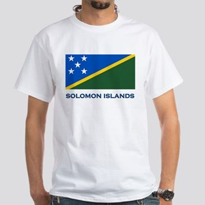 Flag of The Solomon Islands White T-Shirt