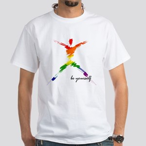 Gay Pride - Be Yourself White T-Shirt