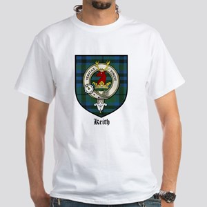 Keith Clan Crest Tartan White T-Shirt