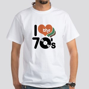 I Love the 70's White T-Shirt