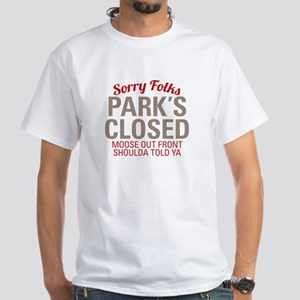 Wally World - Parks Closed White T-Shirt