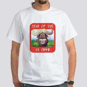 Year of The Ox 1949 White T-Shirt