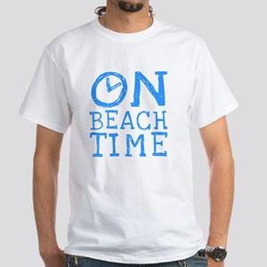 On Beach Time White T-Shirt