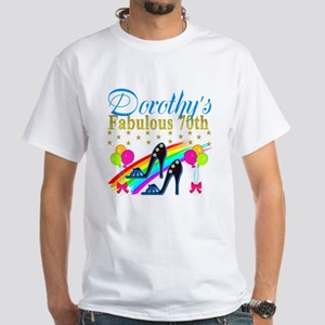 CUSTOM 70TH White T-Shirt