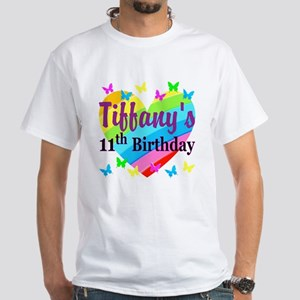 PERSONALIZED 11TH White T-Shirt