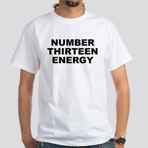 Number Thirteen Energy Men's White T-Shirt