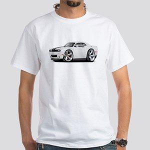 Challenger SRT8 White Car White T-Shirt
