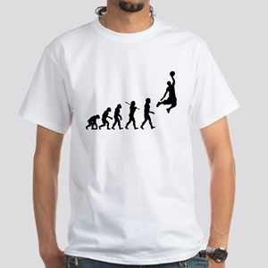 Basketball Evolution Jump White T-Shirt