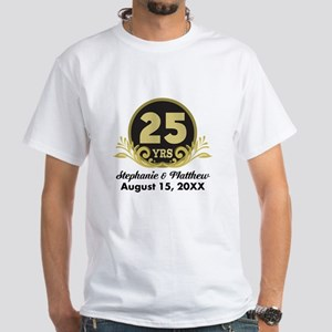 b1b3d5914 25th Anniversary Personalized Gift Idea T-Shirt