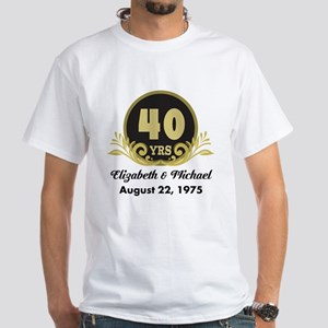 40th Anniversary Personalized Gift Idea T-Shirt