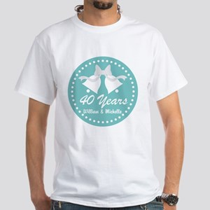 40th Anniversary Personalized Gift T-Shirt
